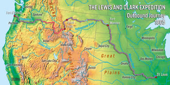 Lewis & Clark Map Long Card