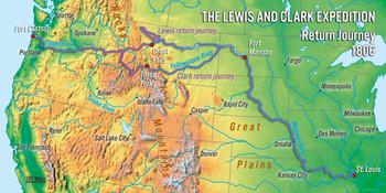 Lewis & Clark Map - LongCard
