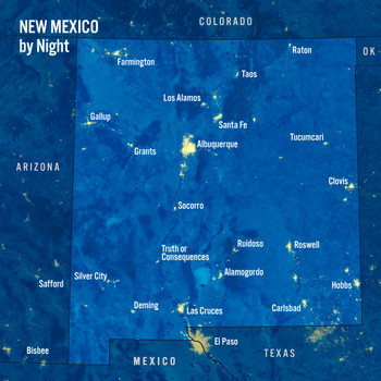 New Mexico Day Night Map - Maxi Card