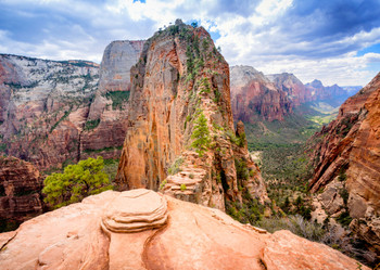 Zion National Park, Angels Landing Postcard