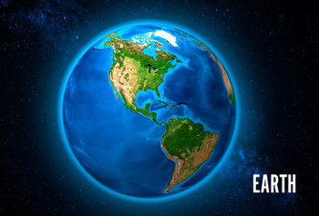 Earth America Magnet
