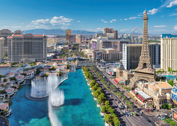 Las Vegas Flip Postcard