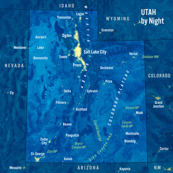 Utah map night MAXI