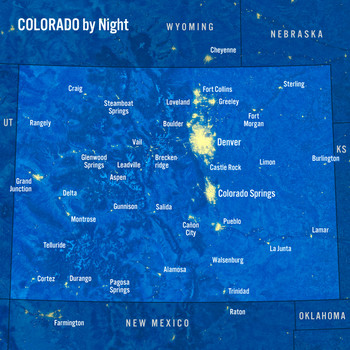 Colorado map night MAXI