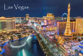 Las Vegas Strip Day Night Magnet