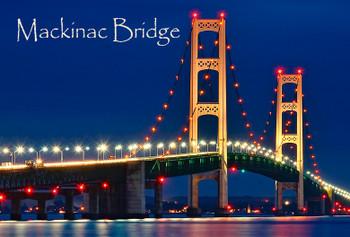 Mackinac Bridge Day Night Magnet
