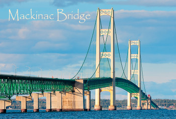 Mackinac Bridge Day Night - Magnet