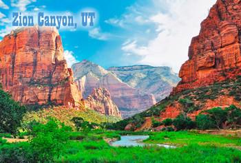 Zion Nat Park, Canyon - Magnet