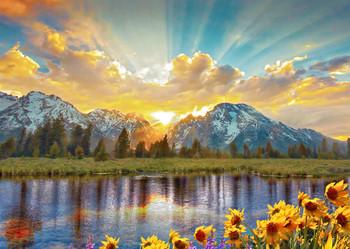 Teton Range 2 - Postcard