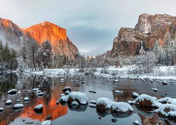 Yosemite Nat Park, Valley with Seasons - Postcard