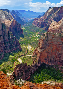 Zion Nat Park, From Observation Point - Postcard
