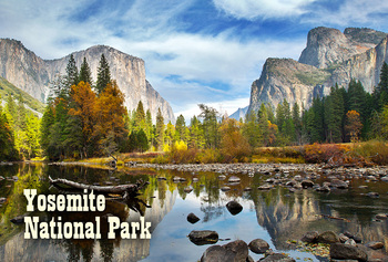Yosemite Nat Park, Valley with Seasons - Magnet