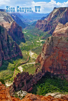 Zion Nat Park, From Observation Point - Magnet