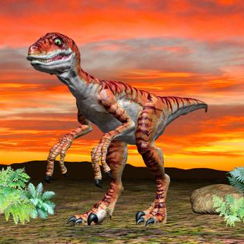 Velociraptor Maxi Card
