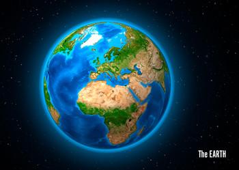 Earth (Europe) Postcard