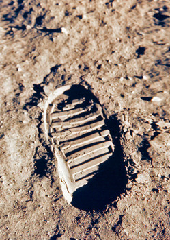 Apollo 11 footprint - Postcard