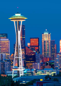 Seattle Space Needle - Postcard