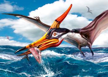 Pteranodon Fishing - Postcard