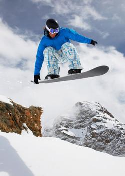 Snowboarder 1 - Postcard