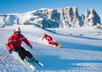 Skier - Postcard
