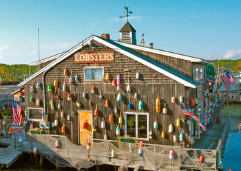 Lobster shack (New England) - Postcard