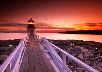 Marshall Point Lighthouse - Postcard