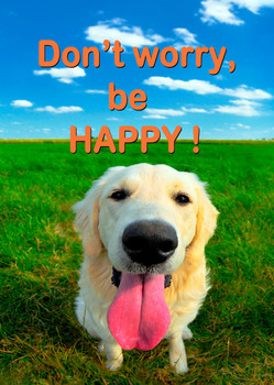 Don't Worry, Be Happy Postcard