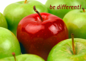 Be Different! - Postcard
