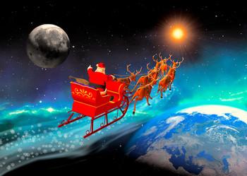 Christmas Sleigh (EMS) - Postcard