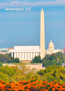Washington Monument - Postcard