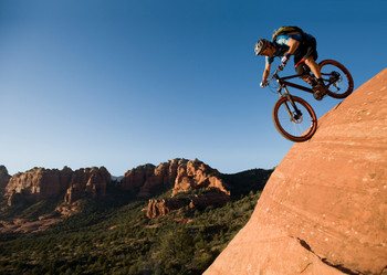 Mountain Biker - Postcard