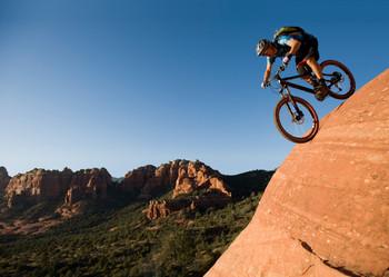 Mountain Biker Postcard