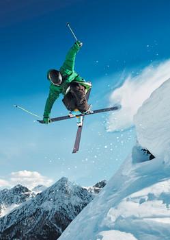 Skier Extreme - Postcard