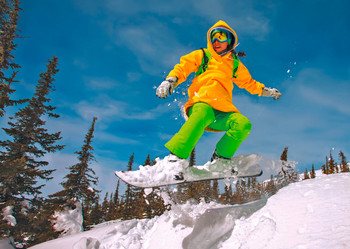 Snowboarder 2 - Postcard