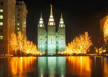 Temple Square Salt Lake City, UT - Postcard