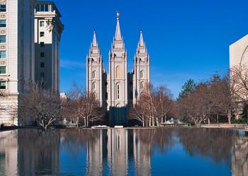 Temple Square Salt Lake City, UT - Postcard