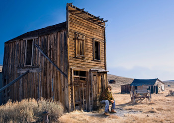 Ghost Town of American West - Postcard