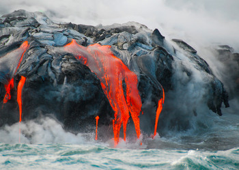 Lava meets sea Postcard