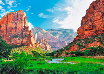 Zion Nat Park, Canyon - Postcard