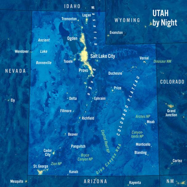 Utah map night MAXI