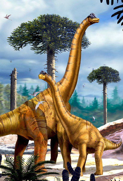 Brachiosaurus with Juvenile - Magnet