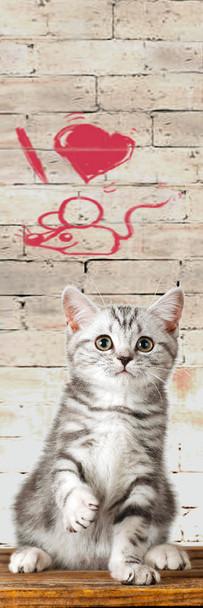 Cat, I Love Mice Bookmark