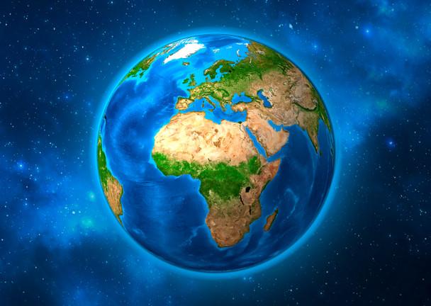 Earth Rotating Postcard