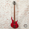 Epiphone Toby Deluxe-V Bass Guitar Transparent Red Gloss x2796