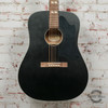 Recording King Dirty 30's Series 7 RDS-7 Dreadnought Acoustic Guitar Black x9346