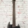 LTD Viper-7 Baritone Black Metal 7-String Baritone Electric Guitar Black Satin x2160
