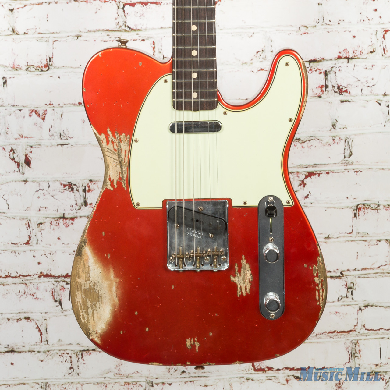 2018 NAMM LTD Fender Custom Shop 1963 Telecaster Heavy Relic Aged Candy  Apple Red