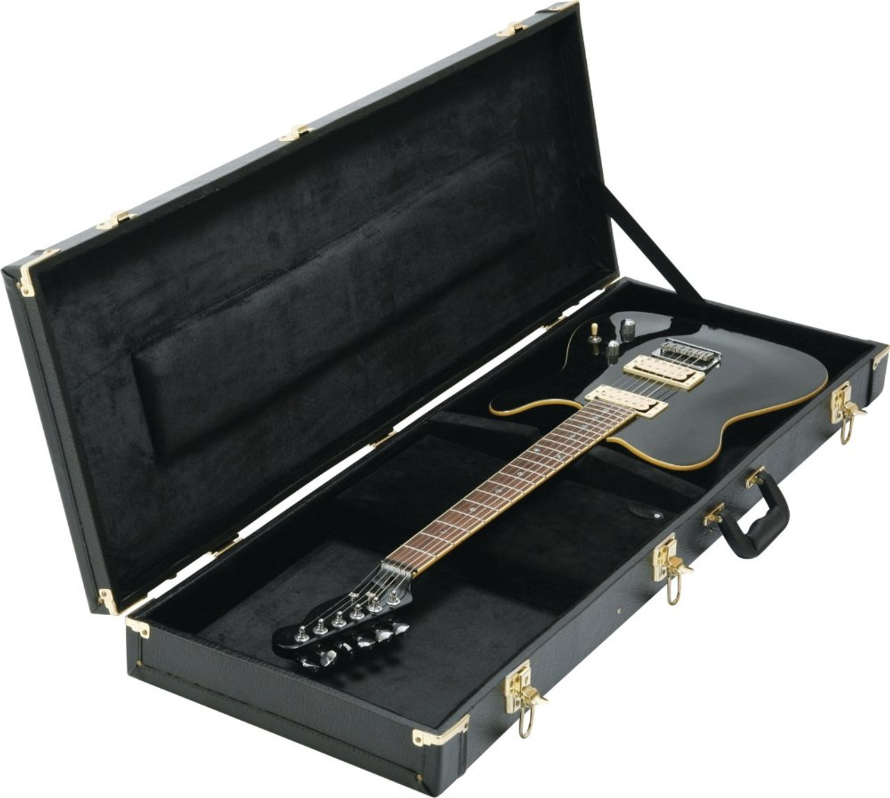 on stage cases hardshell electric guitar case gce6000b gce6000b. Black Bedroom Furniture Sets. Home Design Ideas