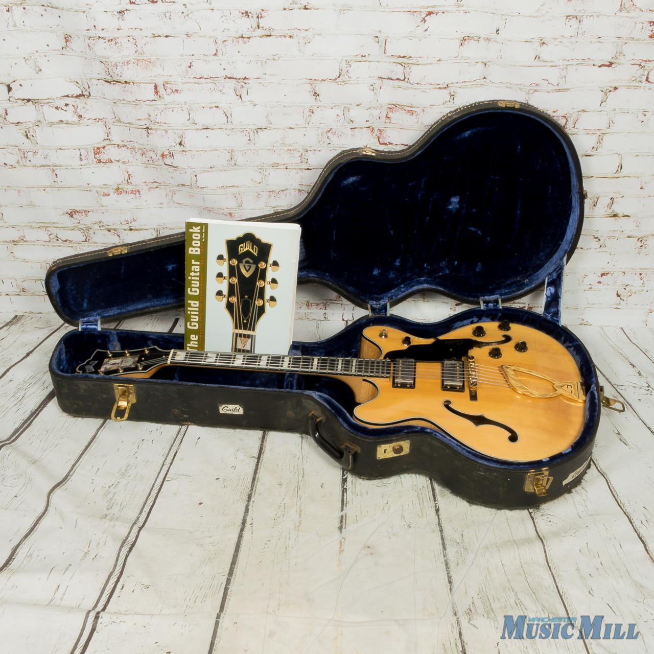 1969 Guild Deep Starfire Custom 7 Semi-Hollow Body Electric Guitar Natural  (USED)