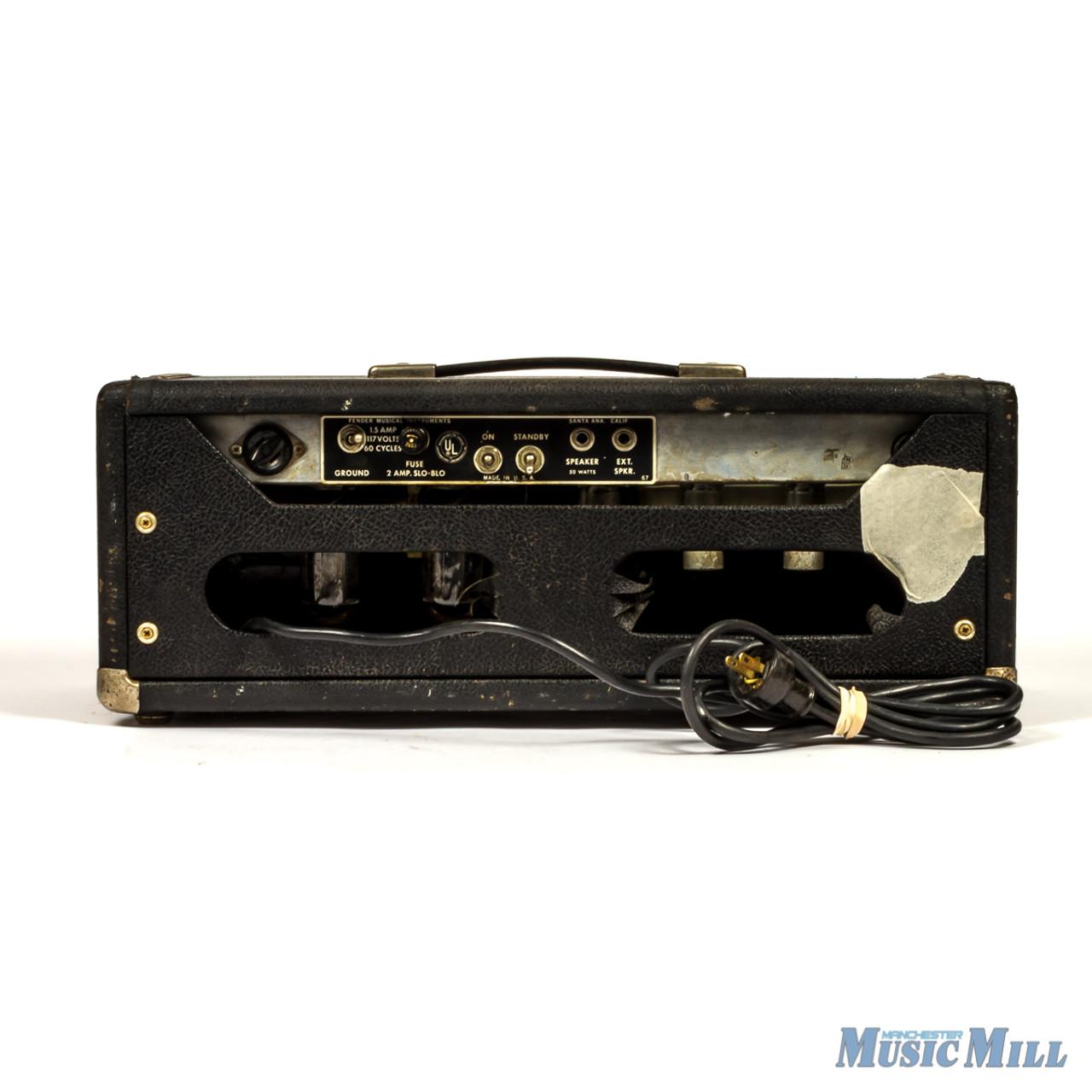 1968 Vintage Fender Bassman Silverface Amplifier Head (USED)